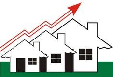 Crescimento em bens imobiliários Imagem de Stock