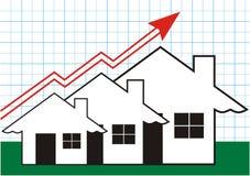 Crescimento em bens imobiliários em Graff Ilustração Royalty Free