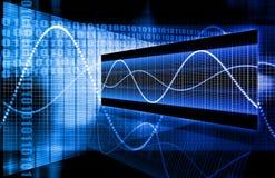 Crescimento em linha do Internet azul do Web