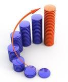 Crescimento financeiro Foto de Stock Royalty Free