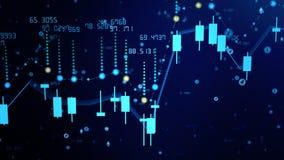 Crescimento financeiro do diagrama no mercado com tendência para a alta, mostrando o lucro do crescimento e do aumento ilustração royalty free