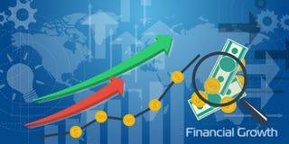 Crescimento financeiro do fundo longo Foto de Stock Royalty Free
