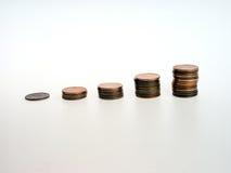 Crescimento nas moedas de um centavo Imagens de Stock Royalty Free