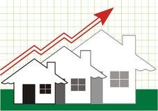 Crescimento no cinza dos bens imobiliários ilustração stock