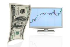 Crescimento o do dólar. Fotografia de Stock Royalty Free