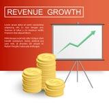 Crescimento profit-01 do rendimento ilustração royalty free