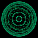 Crescimento simétrico das bactérias Foto de Stock