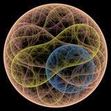 Crescimento simétrico das bactérias Imagens de Stock