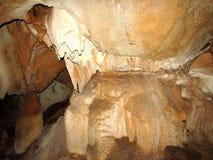 Crescimentos da caverna dentro da montanha Imagem de Stock