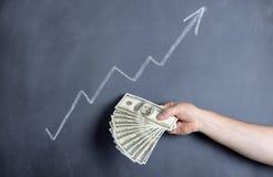 Crescita del dollaro Fotografie Stock Libere da Diritti