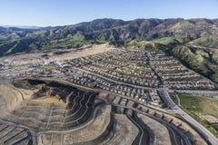 Crescita della città di Los Angeles in Porter Ranch Fotografia Stock Libera da Diritti