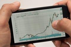 Crescita di Bitcoin Fotografia Stock