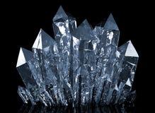 Crescita di cristalli del quarzo Immagini Stock Libere da Diritti
