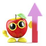 crescita di 3d Apple see Fotografia Stock