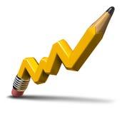 Crescita di profitto di pianificazione Fotografie Stock