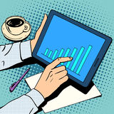 Crescita di programma dell'uomo d'affari di concetto di affari illustrazione di stock