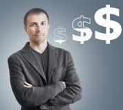 Crescita di valuta di concetto Fotografie Stock Libere da Diritti