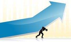 Crescita finanziaria di sollevamento di affari Fotografia Stock