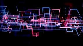 crescita futuristica della rete 4K stock footage
