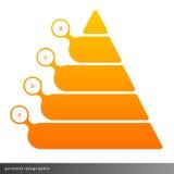Crescita infographic di manifestazioni della piramide di vettore con il materiale di riempimento di pendenza Immagine Stock
