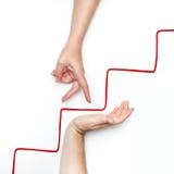 Crescita personale su sulle scale Immagini Stock Libere da Diritti