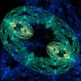 Crescita simmetrica dei batteri Fotografia Stock