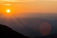 Cresent俯视高山在Shenandoah国家公园, vi 免版税库存图片