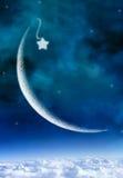 cresent stjärna Arkivbild