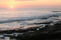 Cresent strand, Florida soluppgång Fotografering för Bildbyråer