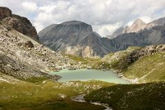 Dolomite`s landscape - Puez odle natural park Stock Photos