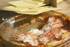 Crespelle at the tomatoes Royalty Free Stock Photography