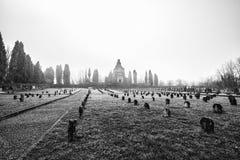 Crespi D ` Adda Cemetery Stock Afbeelding