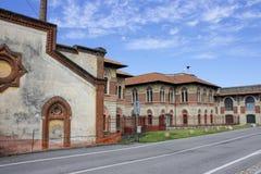 Crespi D ` Adda, Italië stock afbeelding