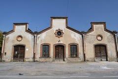 Crespi D ` Adda Italy, historisch industrieel dorp stock fotografie