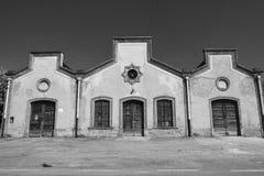 Crespi D ` Adda Italy, historisch industrieel dorp royalty-vrije stock afbeeldingen