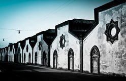 Crespi d'Adda, Italy. In a row Royalty Free Stock Photos