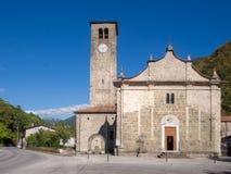 Crespiano church in Lunigiana, Italy. Stock Images