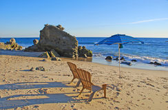 Cress Street Beach au sud de Laguna Beach du centre, la Californie Photos libres de droits