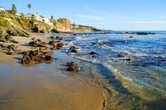 Cress Street Beach (2) Laguna Beach, CA. Arkivbilder