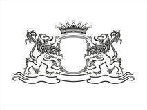 CREST ΟΙΚΟΣΗΜΟΛΟΓΙΑΣ με τα λιοντάρια Στοκ Φωτογραφία