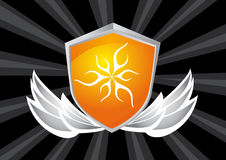 Winged Crest. Shield crest icon design for your use Royalty Free Stock Image