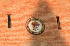 Crest of the accounts of gherardesca, Bolgheri, Tuscany Stock Image