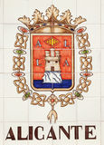 Crest for Alicante, Costa Blanca, Spain - APRIL 2014: colorful s Stock Photos