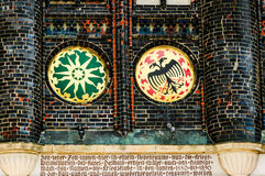 Crest of arms. On the display wall, Lübeck Rathaus Royalty Free Stock Photo