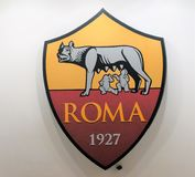 Crest of the AS Roma football team royalty free illustration