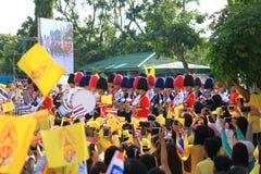CREST Bhumibol βασιλιάδων Rama ΙΧ, στο 86ο εορτασμό γενεθλίων του Στοκ Εικόνες