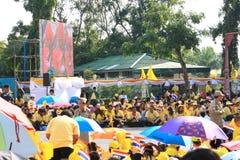 CREST Bhumibol βασιλιάδων Rama ΙΧ, στο 86ο εορτασμό γενεθλίων του Στοκ εικόνα με δικαίωμα ελεύθερης χρήσης