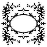 Crest/border. Crest, border, wreath - black silhouette stock illustration