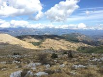 Crest of Cheiron. Mountains, France, Alpes, landscape, hicking Royalty Free Stock Photography