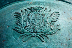 Crest Detail on Cannon Stock Image